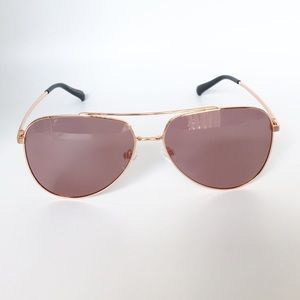 Women's Abella Gold/ Pink Aviator Sunglasses, NIB.